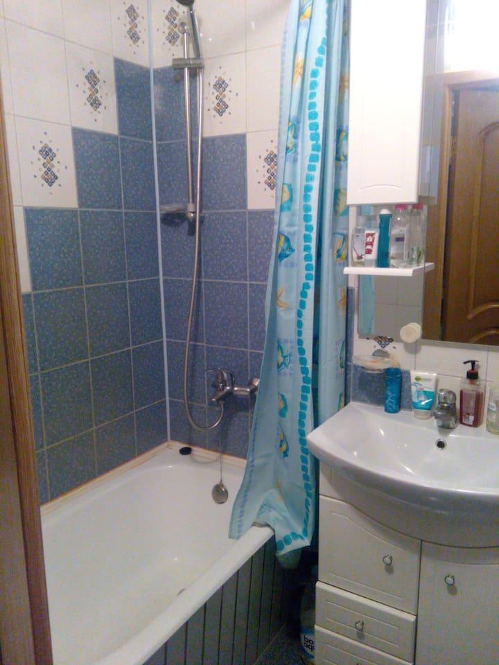 совмещенный санузел, душ