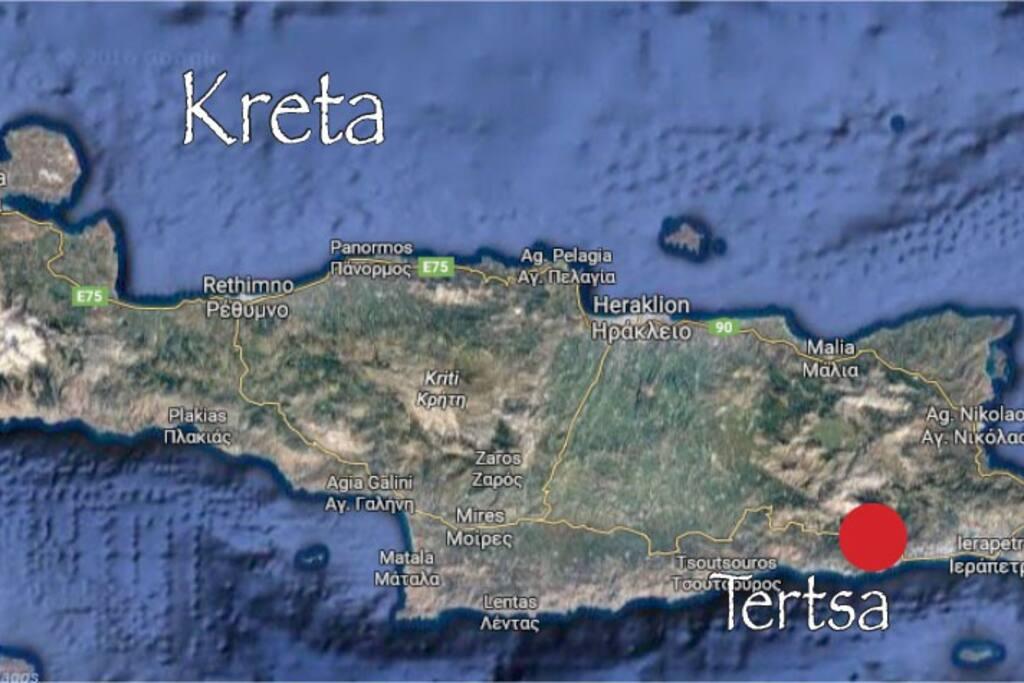 Lage in Kreta / Location in Crete