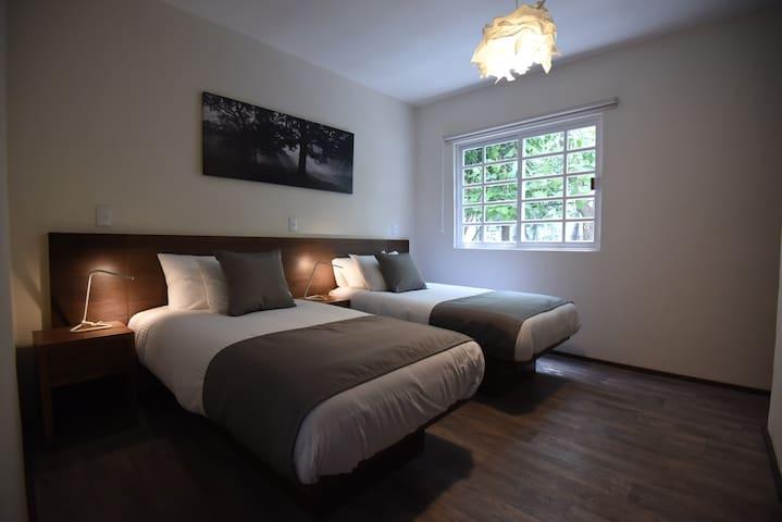 opcion de 2 camas individuales o una king