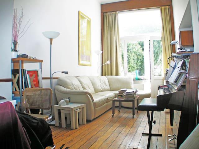 Duplex + mezzan. + garden + garage