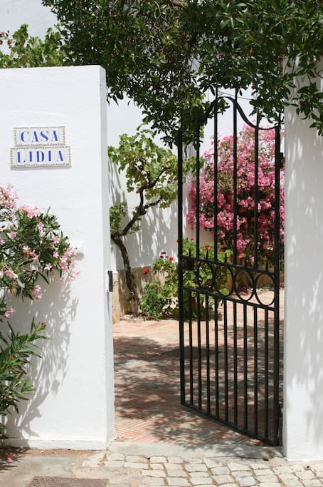 The main entrance leads to the villa