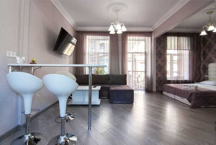 Stylish studio near Andriivsky Descent