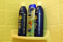 Body soap, shampoo, and conditioner are provided for you during your stay.