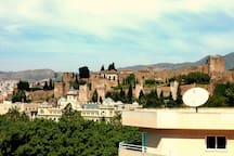 Views of the Alcazaba (eleventh-century Moorish castle.)