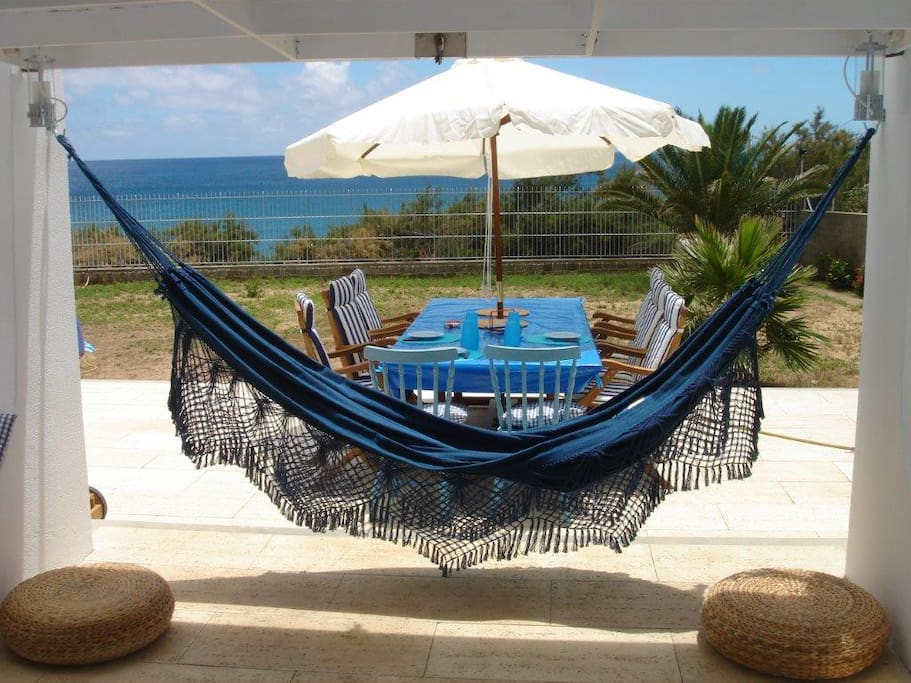 Camas de rede para relaxar.
