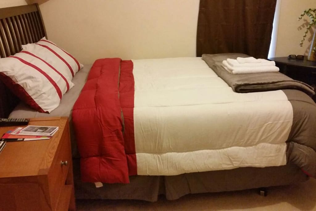 Nice and comfy queen bed