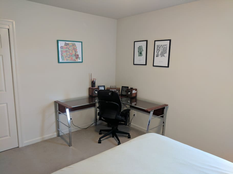 Office Desk in the Private Guest Bedroom