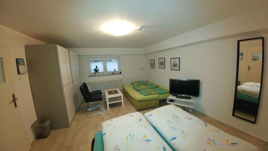 Raum 1- Schlafcouch / Doppelbett