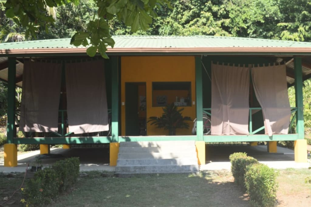 two bedroom simple house- jungle behind, beach in front!