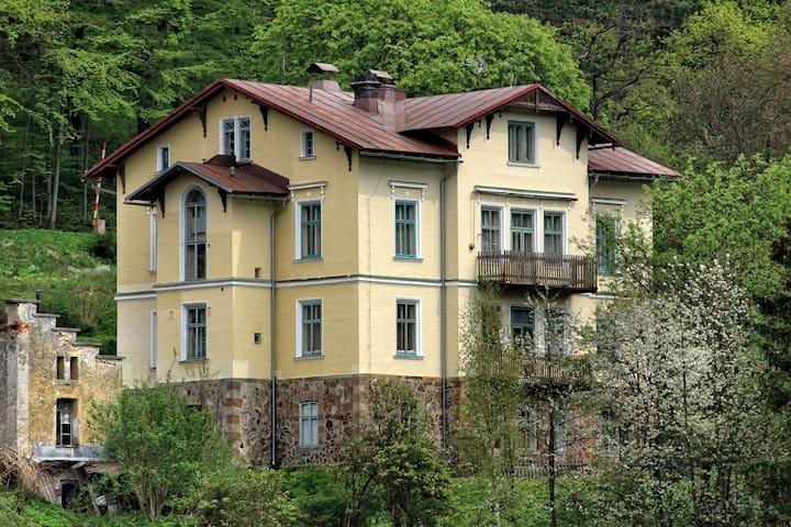 Městečko s lázněmi v Krkonoších - Janské Lázně