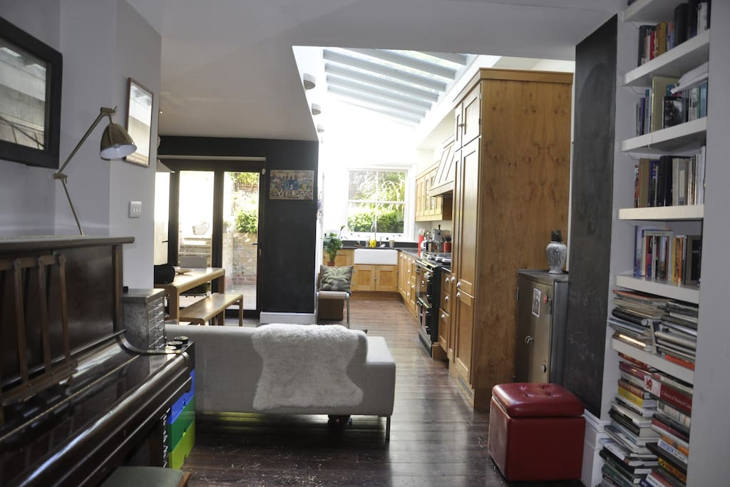 Terrific open plan ground floor space, leading onto garden patio.