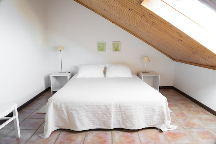 Standard double room 2, attic (Casa das Proteas)