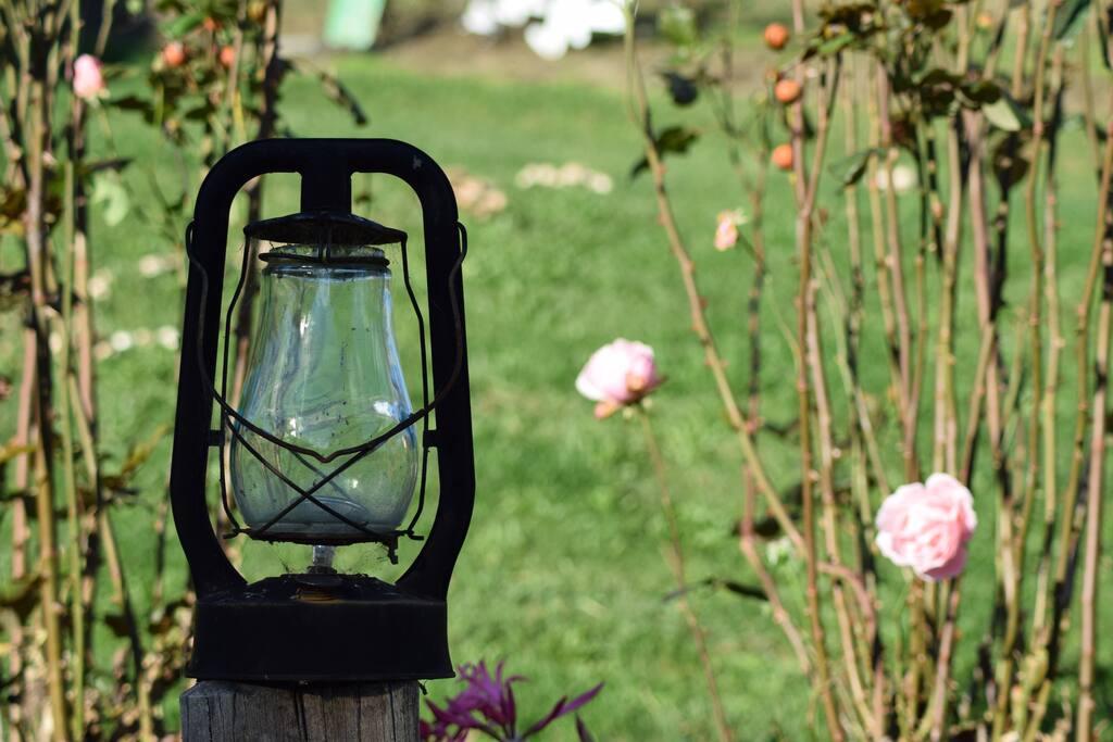 lantern lighting on verandah