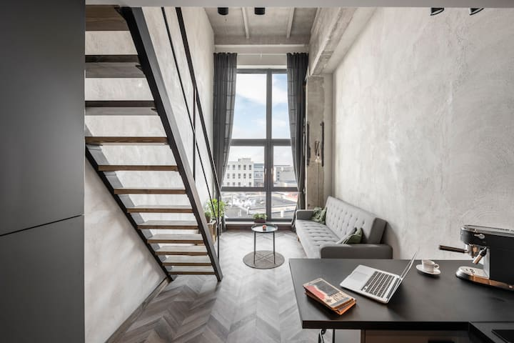 Spacious Loft with a View