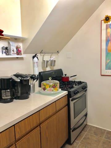 The top floor unit: kitchen