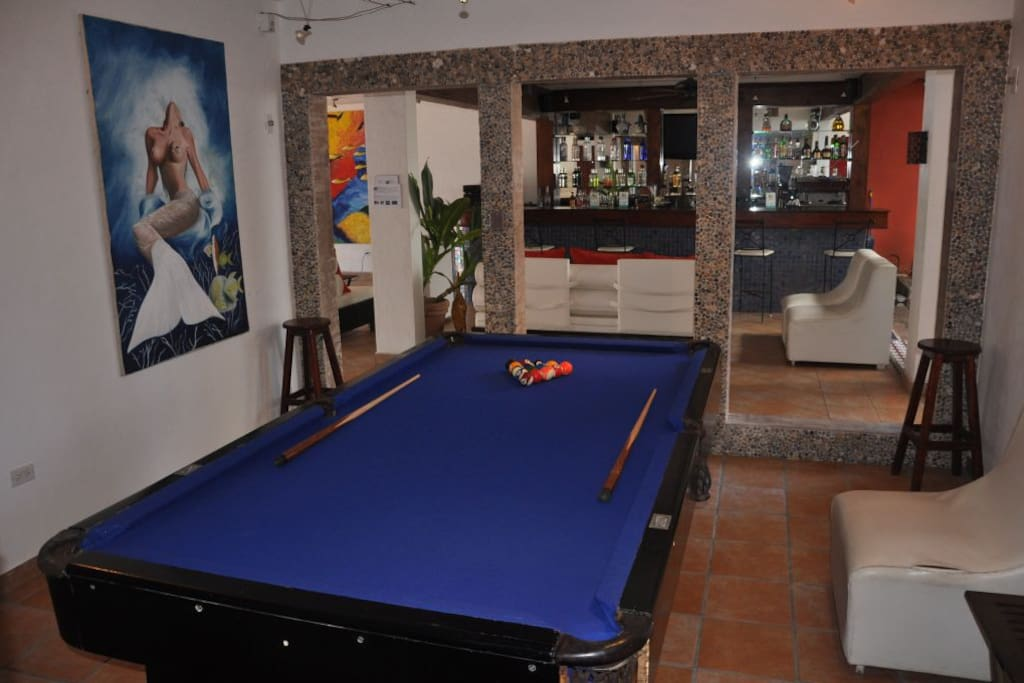 Bar and Pool table area