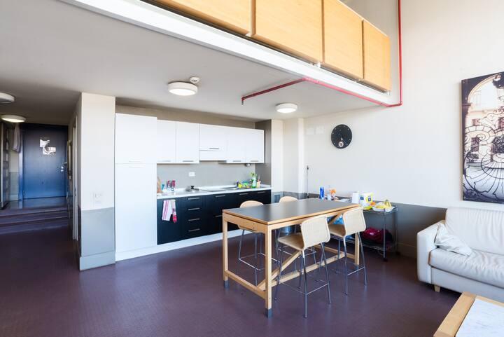 Loft 3 stile Industrial in Camplus Guest Lingotto