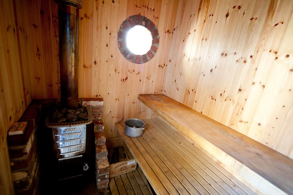 Wood burning sauna!