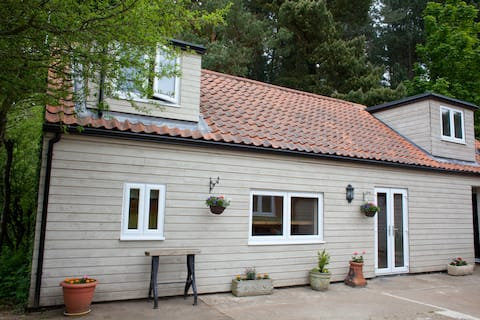 Rural, secluded holiday lodge close to beaches.