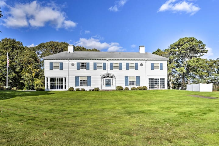 NEW! Lavish Hyannis Port Home Steps from Beach!