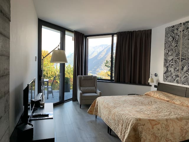 Camera Doppia/letti singoli Giardino e Vista Lago