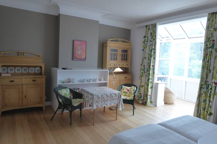 Brightful and spacious twin bed room in Uccle