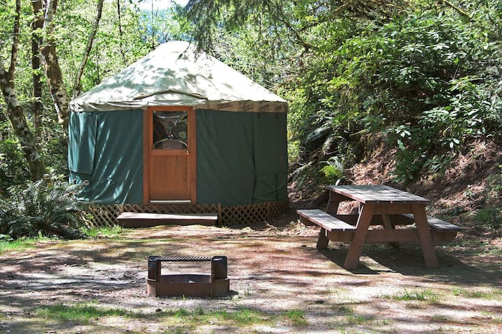 Yurts at Loon Lake Lodge
