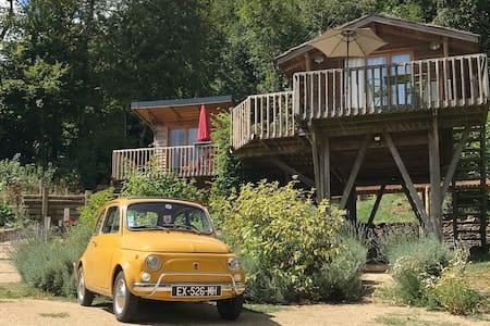 Cabane sur pilotis, confort et vue sur les Vosges