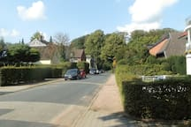 Rehblöcken, die Straße vor dem Haus, ruhig und in Waldnähe