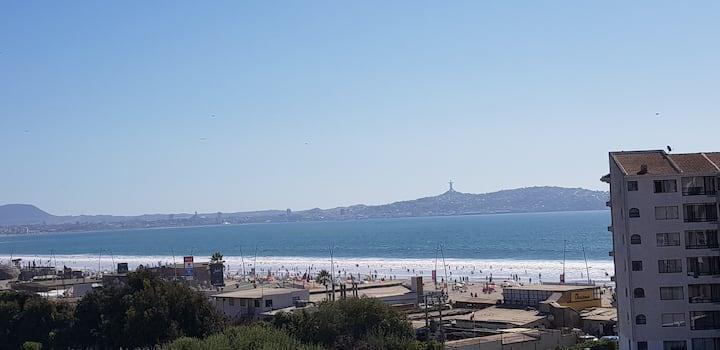 Arriendo depto, excelente vista al mar
