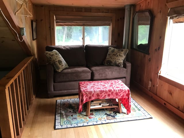 The upstairs loft area has a new Lazyboy couch making a nice seating area...