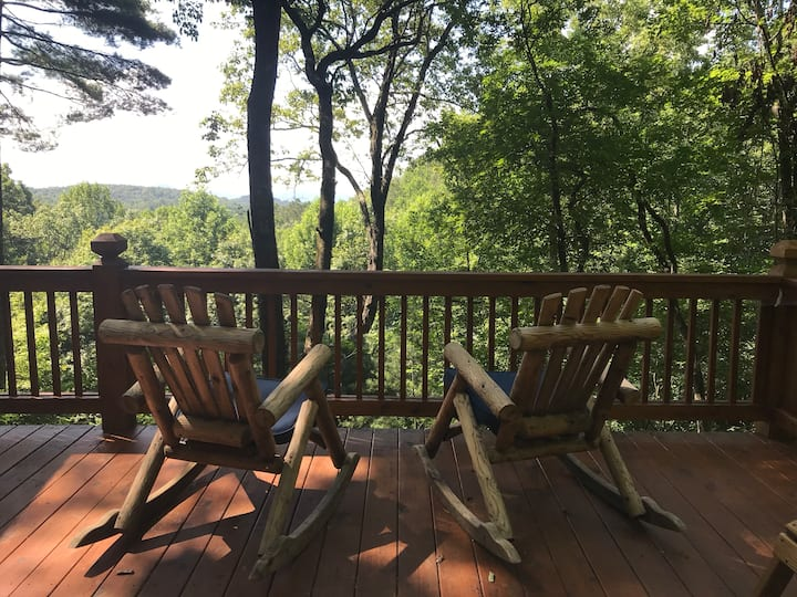 Cozy Cabin, Rugged Roads,  with views in Ellijay!