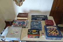 Many fun board games to make your stay fun!