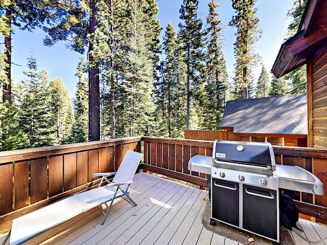 Take the views in on the deck with grill and outdoor dining table for 4.