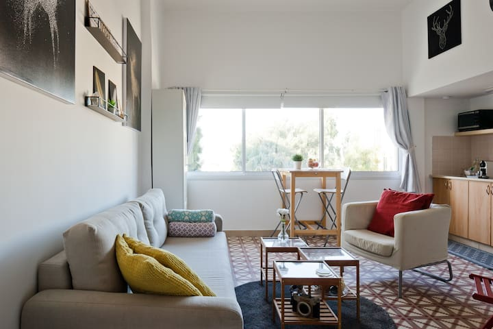 Snug and chic living area