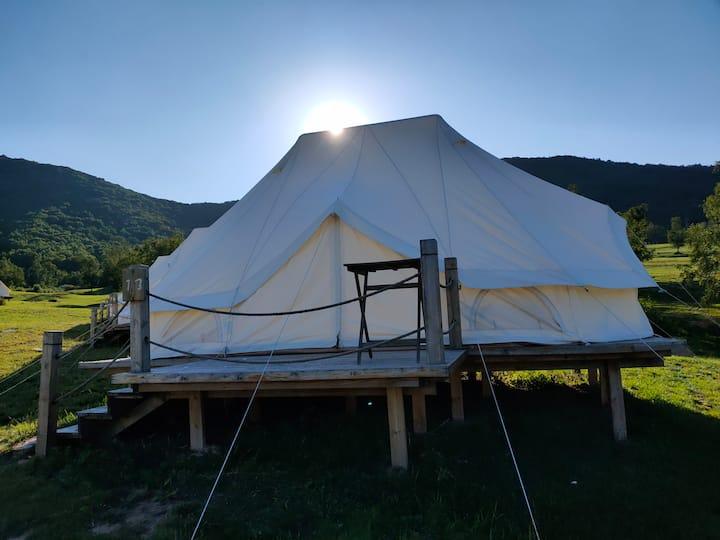 海坨山谷星空帐篷营地可住4人可团建