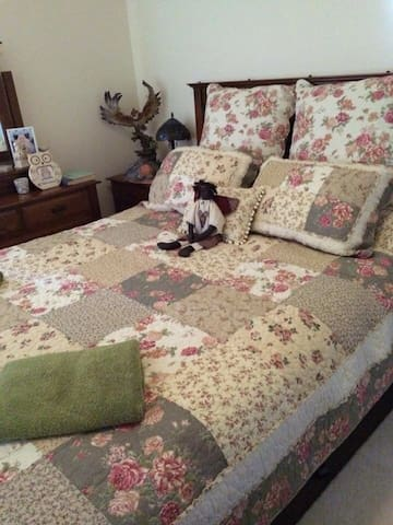 This bedroom I call the clutter room it has a collection of memories of my children and myself because of this fact Theo's room is offered at a very reasonable price as the bed is comfortable and clean however no cupboard space and cluttered