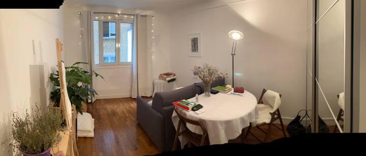 Cozy and calm studio in the center of Paris