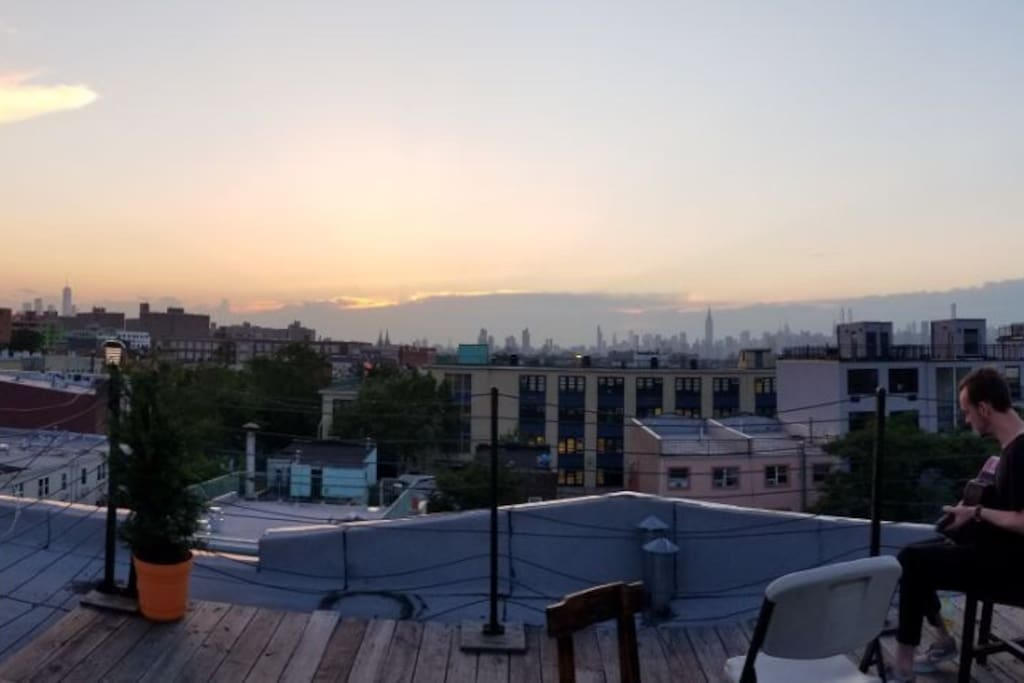 Our rooftop deck with amazing skyline view