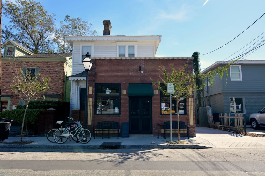 """On the front of the property is a great express coffee shop called """" The Bearded Cafe"""". Perfect for grabbing some pastries and coffee to go for your group."""