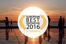 Zadar is the European Best Destination 2016!