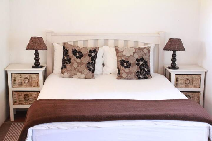 Pine Cottage double bed.