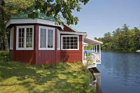 Peaceful Lakefront Tea House, c1920 - Bremen