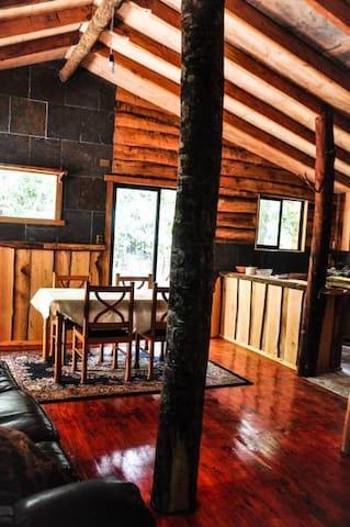 Cabaña rustica, patagonia chilena, Coigue.