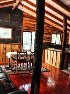 Cabaña rustica, Patagonia Chilena, Gnomo.