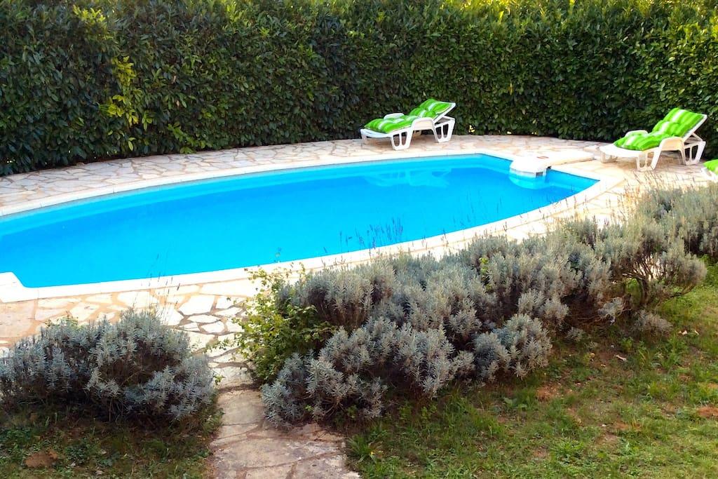Piscine privée réservée uniquement aux locataires - l'accès à la piscine n'est pas partagé