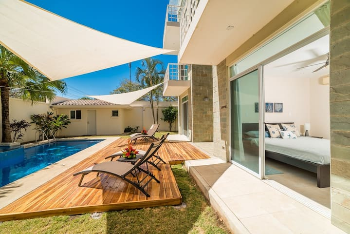 Close to beach with BBQ and Pool, ground floor