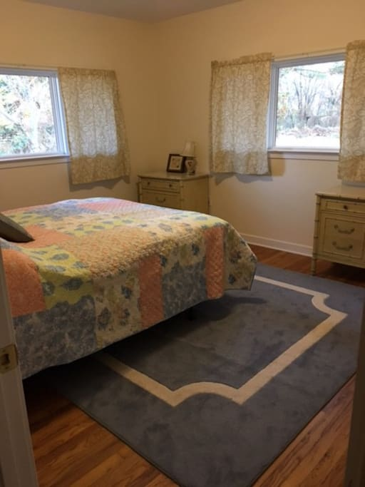 Newly-renovated and painted, brand new bed!