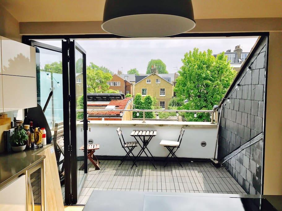 Roof Terrace with bi-folding doors