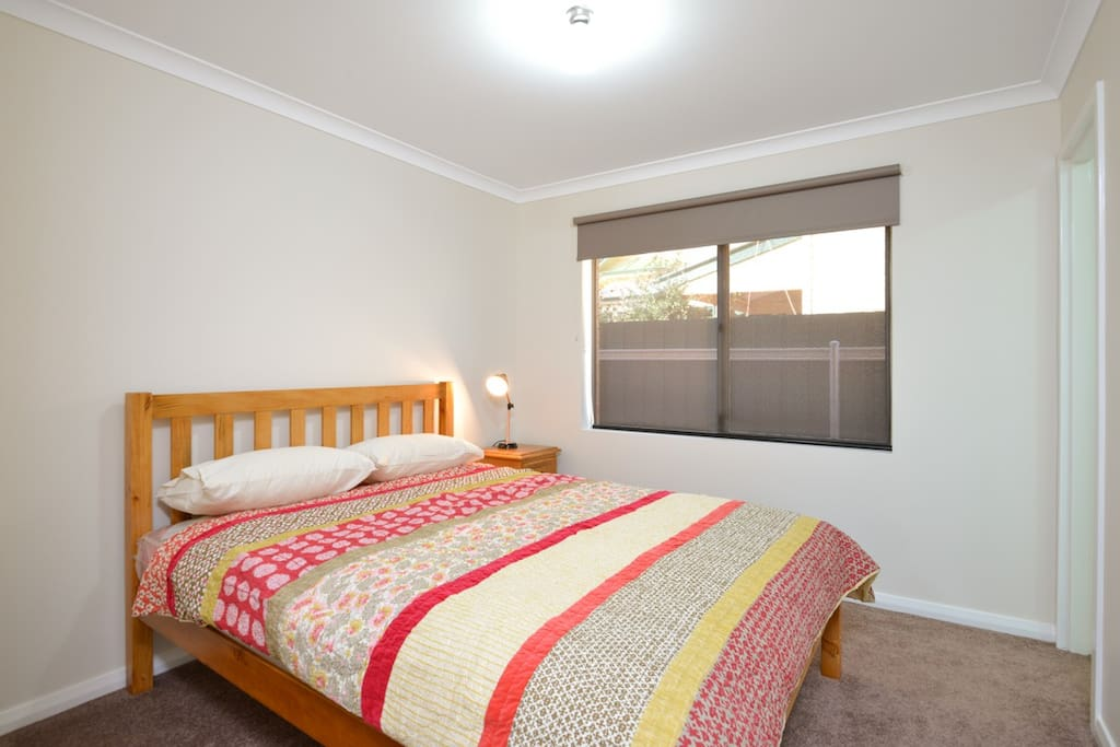 Each unit has two bedrooms with comfy new queen size beds,  ensuite bathrooms and built-in wardrobes.